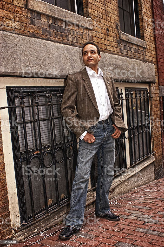 posing on street royalty-free stock photo