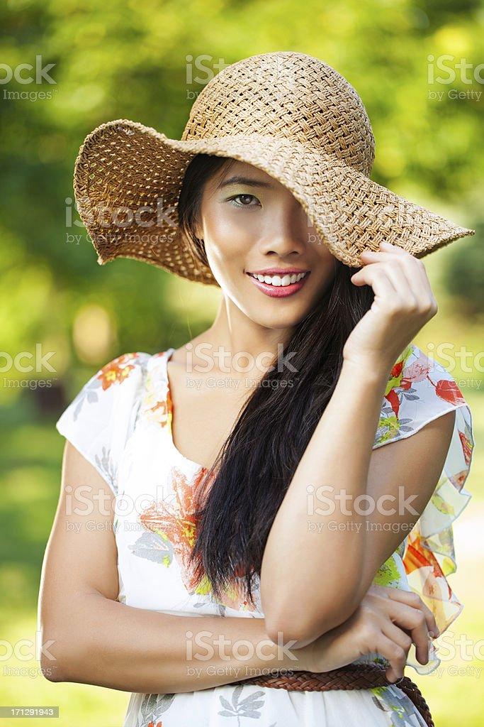 Posing Outdoors stock photo