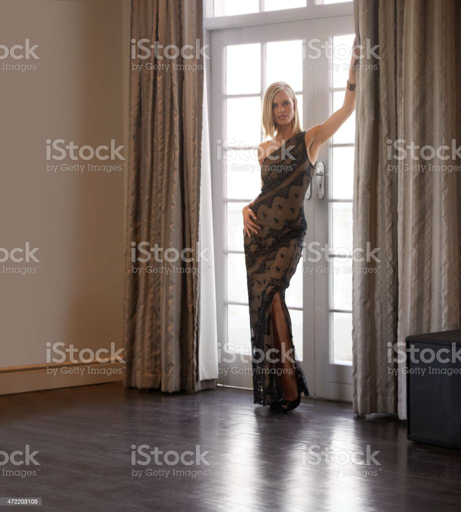 Posing with casual elegance stock photo