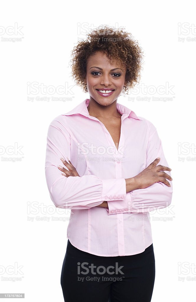 Posing with smile royalty-free stock photo