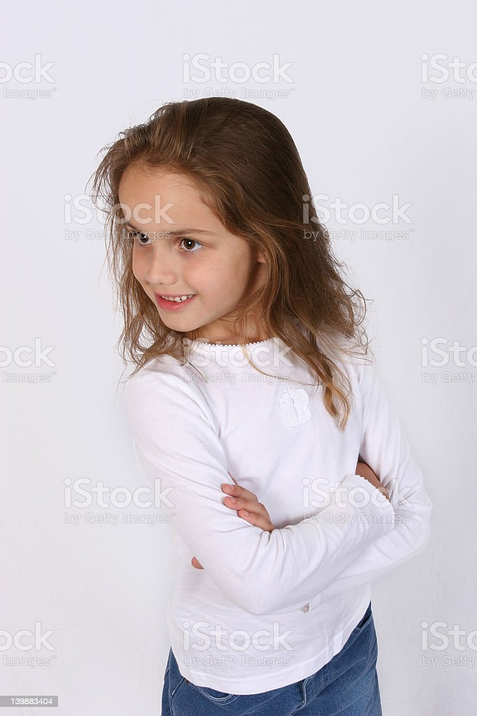 Posing young girl royalty-free stock photo
