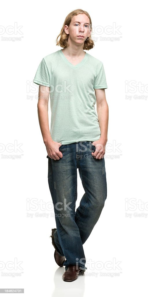 Posing Young Man royalty-free stock photo