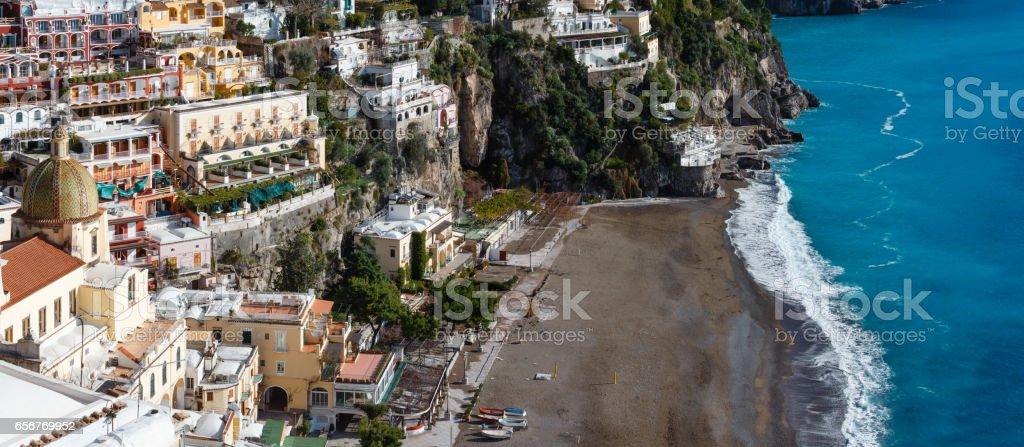 Positano, Amalfi Coast, Italy. stock photo