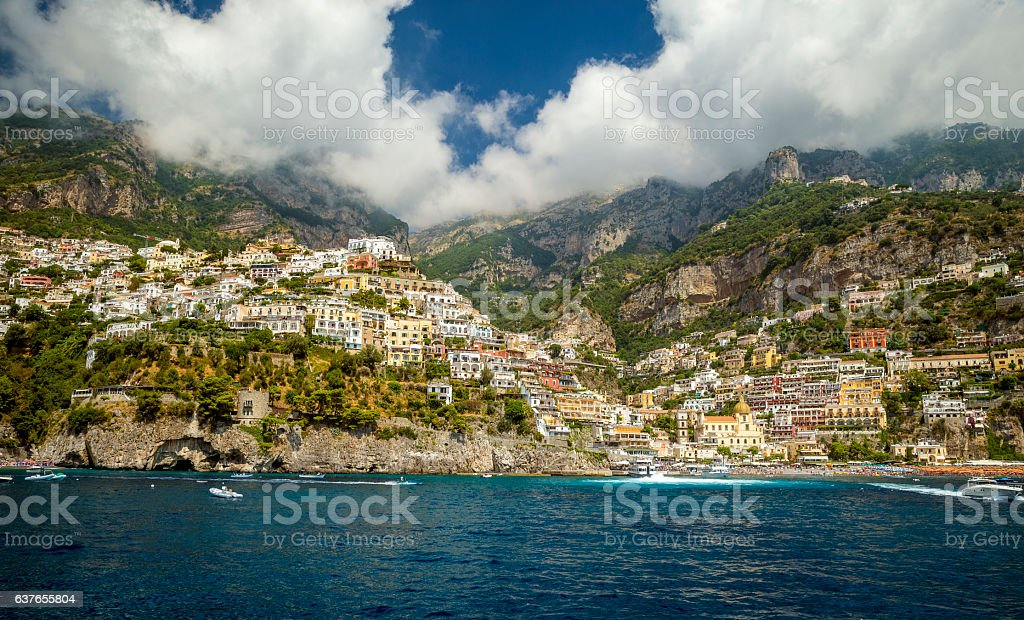 Positano town, Amalfi Coast, Italy stock photo