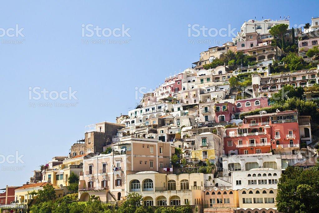 Positano view stock photo