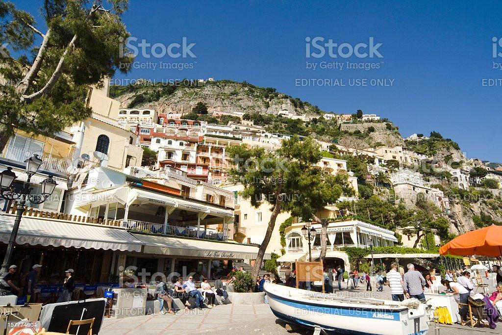 Positano Village, Amalfi Coast, Italy stock photo