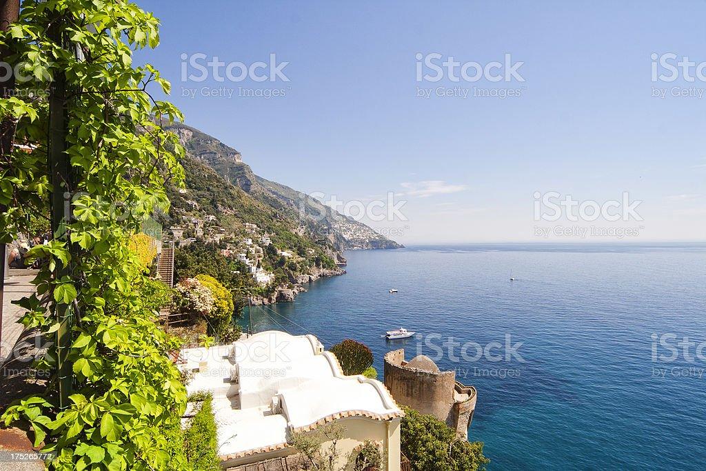 Positano Village On Amalfi Coast, royalty-free stock photo