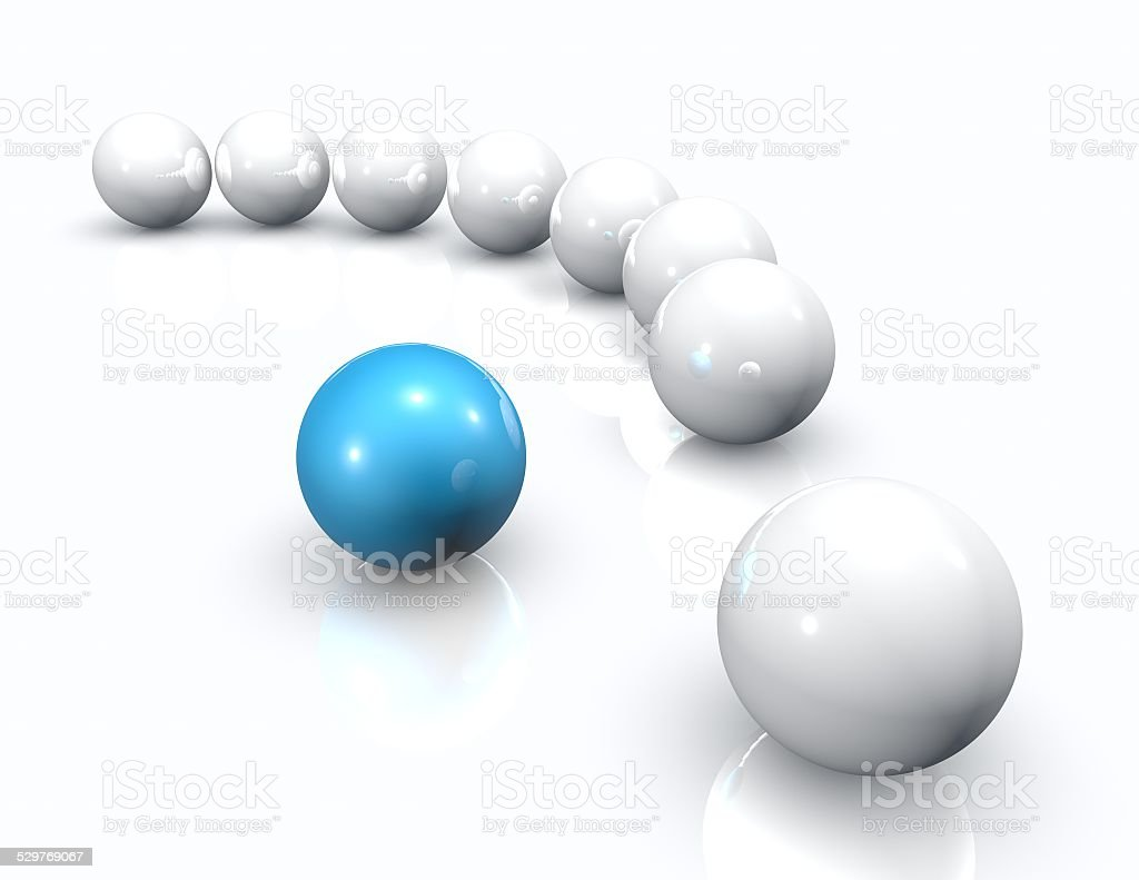 Positioning 3d abstract concept. Three-dimensional illustration isolated. stock photo
