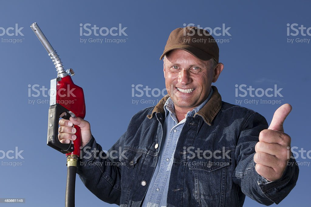Positive about Gas Prices stock photo