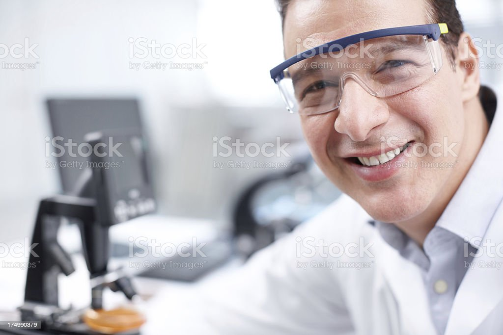 Positive about my research royalty-free stock photo