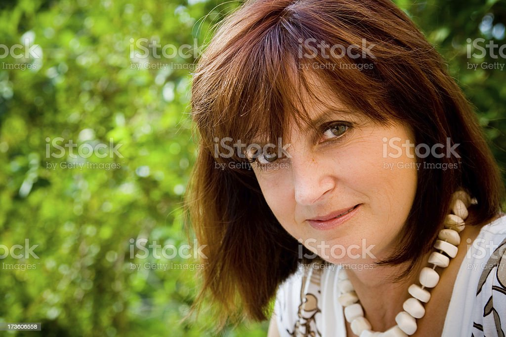 positive adult woman stock photo