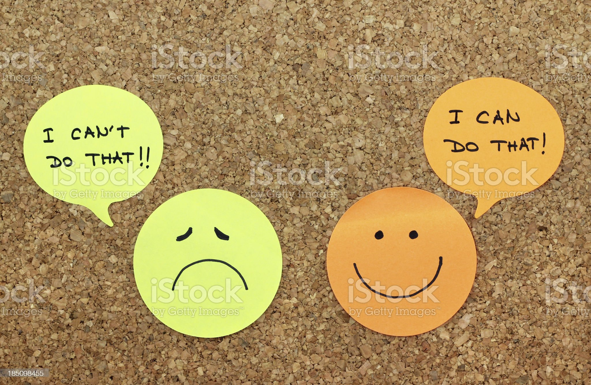 Positive and negative attitude concept royalty-free stock photo
