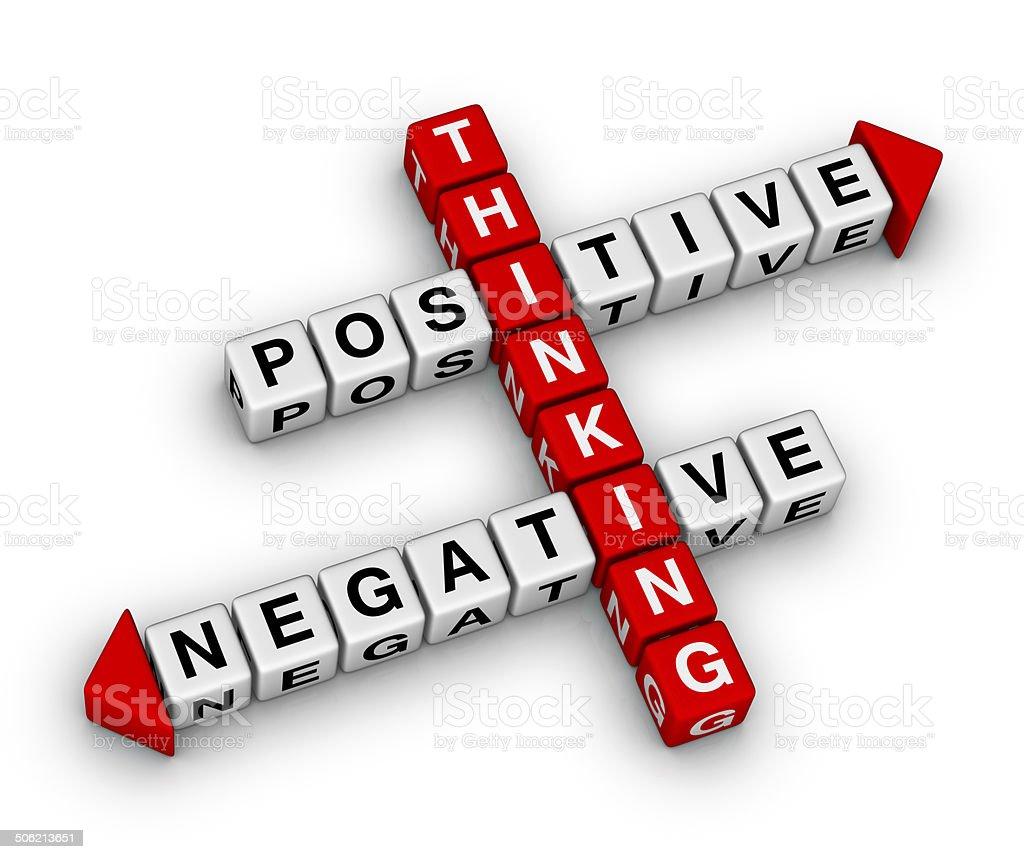 positive and negative thinking stock photo