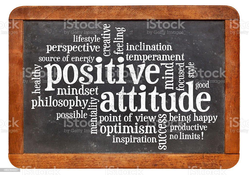 positive attitude concept on blackboard royalty-free stock photo