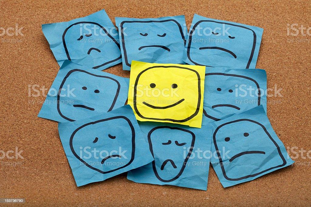 positive attitude concept on cork board stock photo