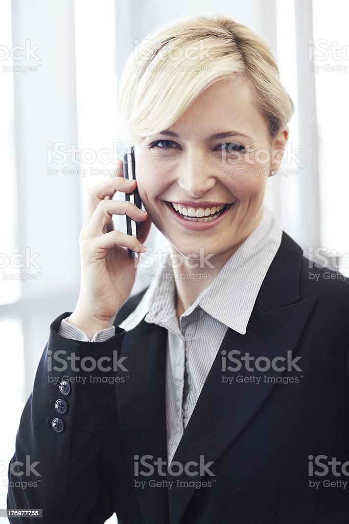 Positive attitude enforces her success royalty-free stock photo