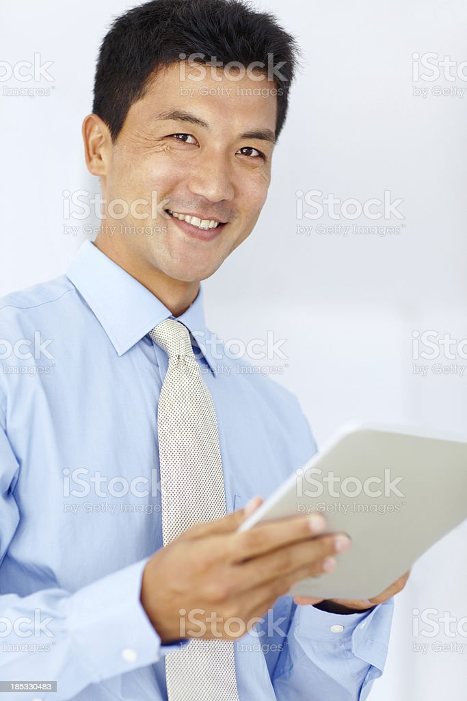Positive attitude is my corporate policy royalty-free stock photo