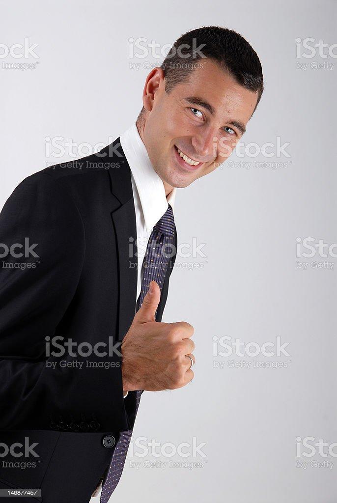positive business man stock photo
