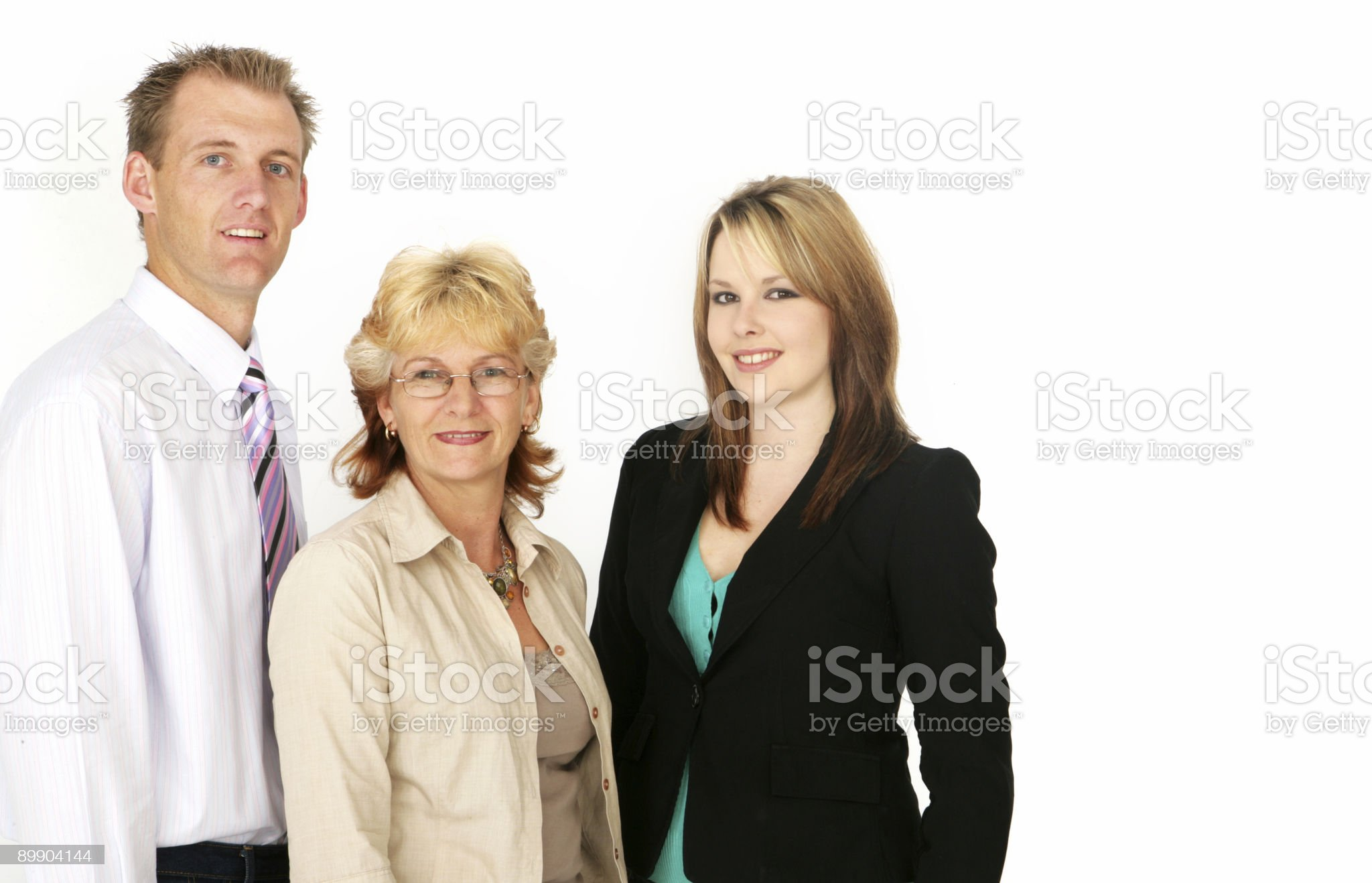 Positive Business Team royalty-free stock photo