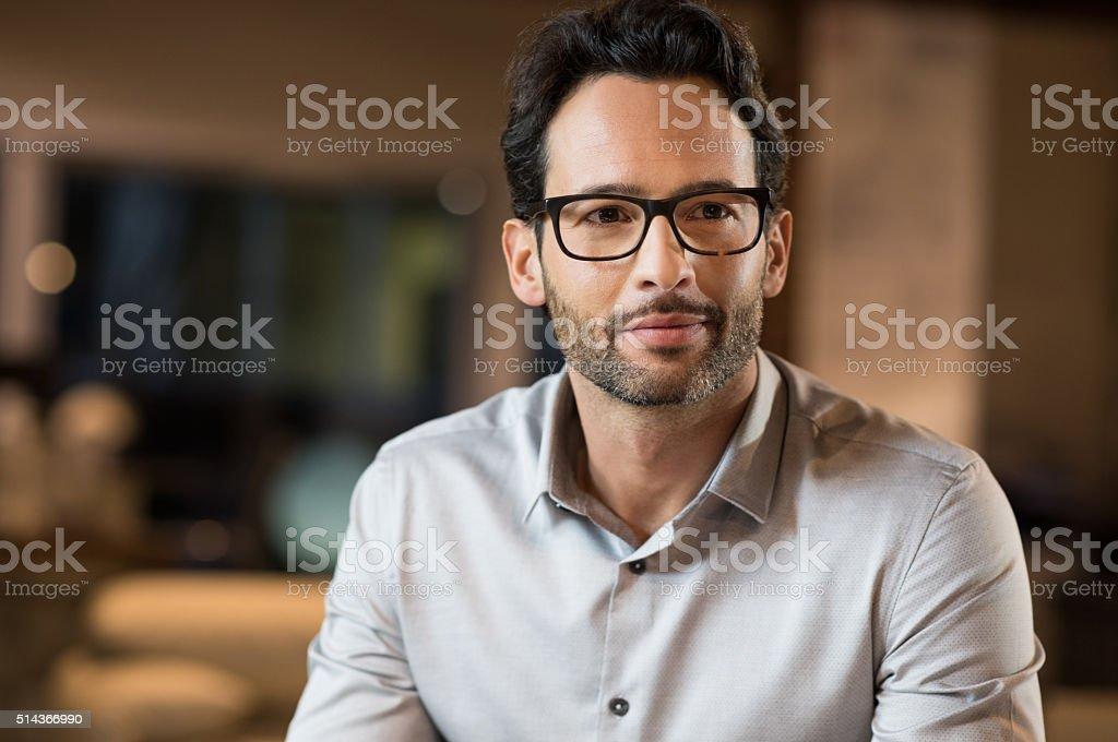 Positive businessman stock photo