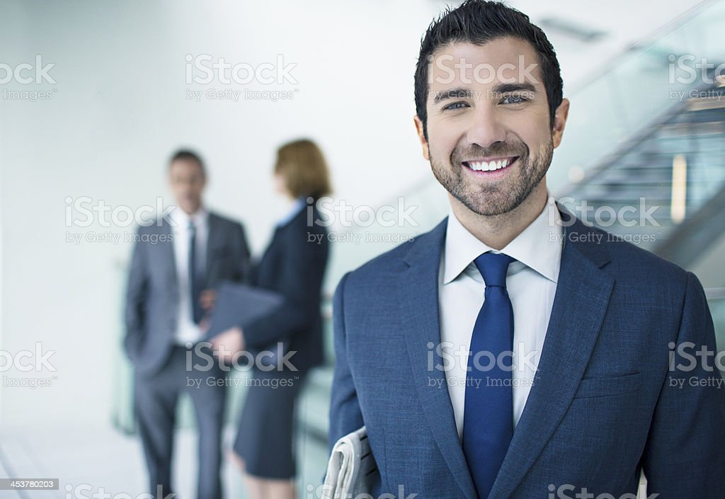 Positive businessman portrait royalty-free stock photo
