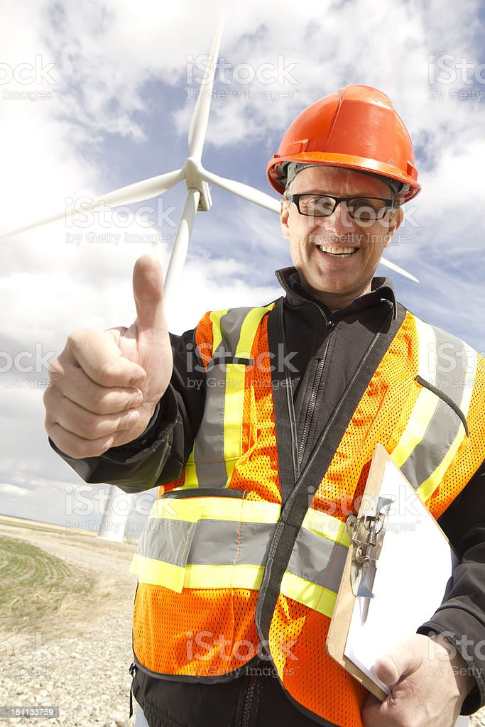 Positive Clean Energy royalty-free stock photo