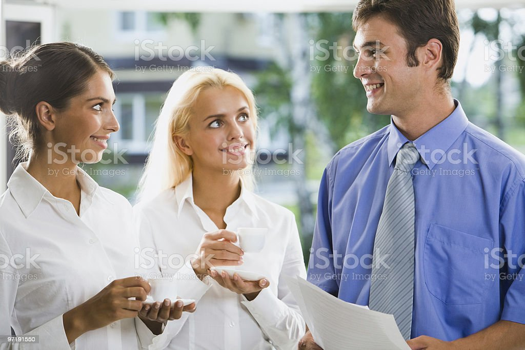 Positive discussion royalty-free stock photo