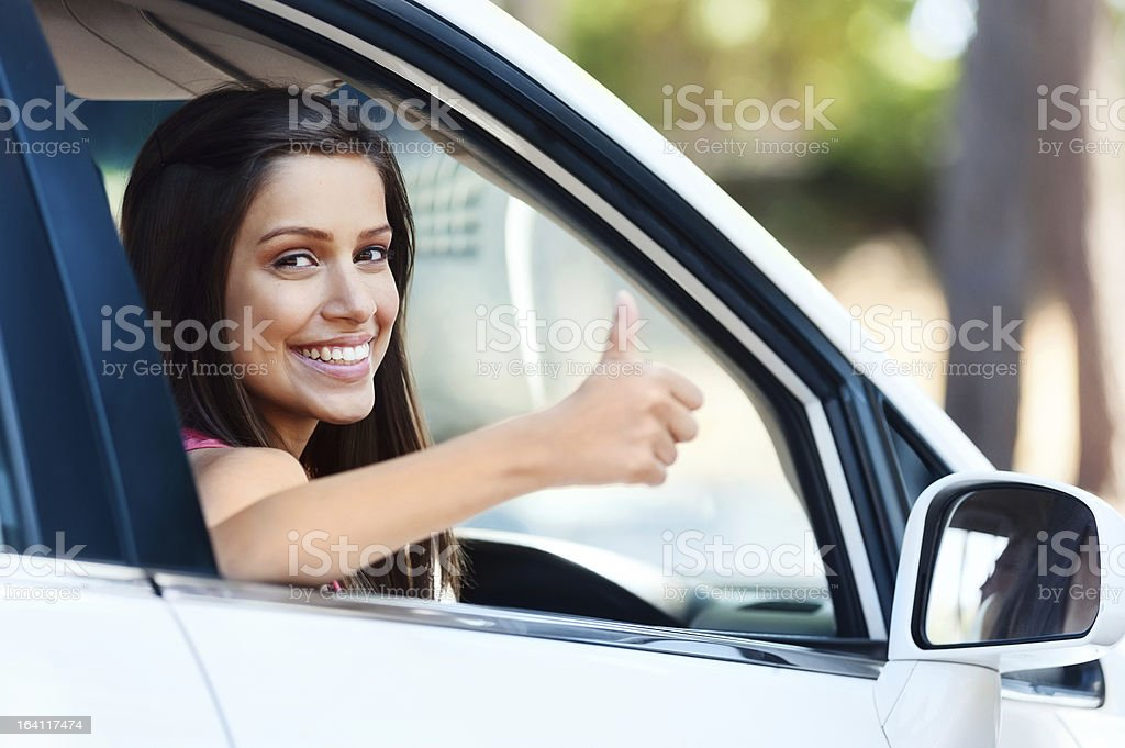 positive driving royalty-free stock photo