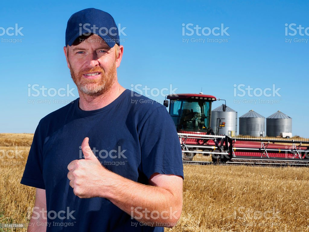 Positive Farmer stock photo