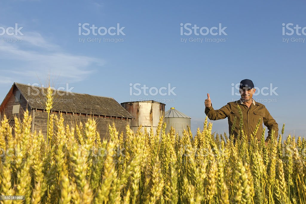 Positive Farming stock photo