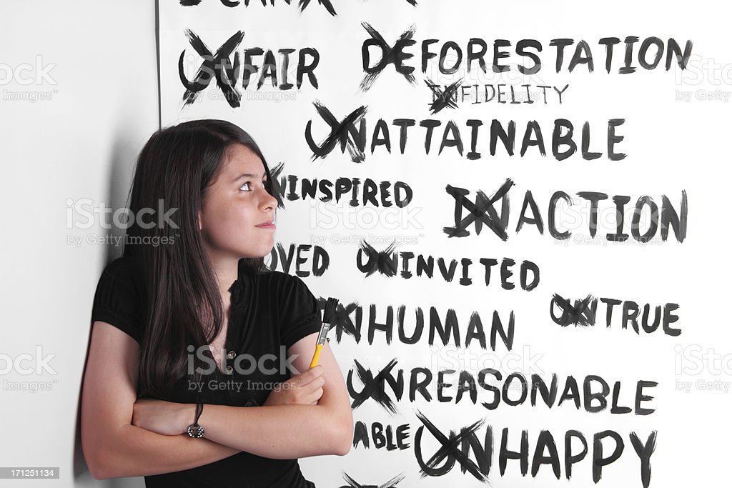 Positive Girl stock photo