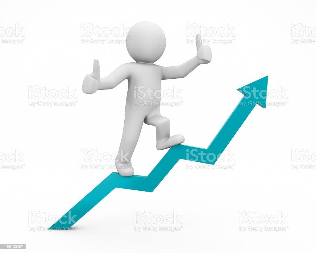 positive graph stock photo