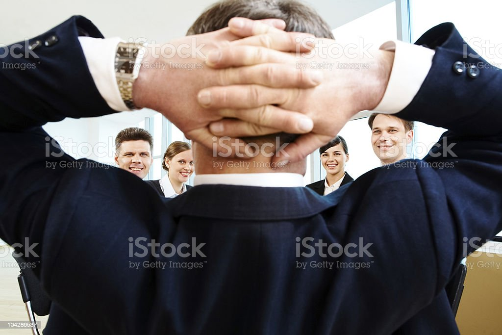 Positive moment royalty-free stock photo