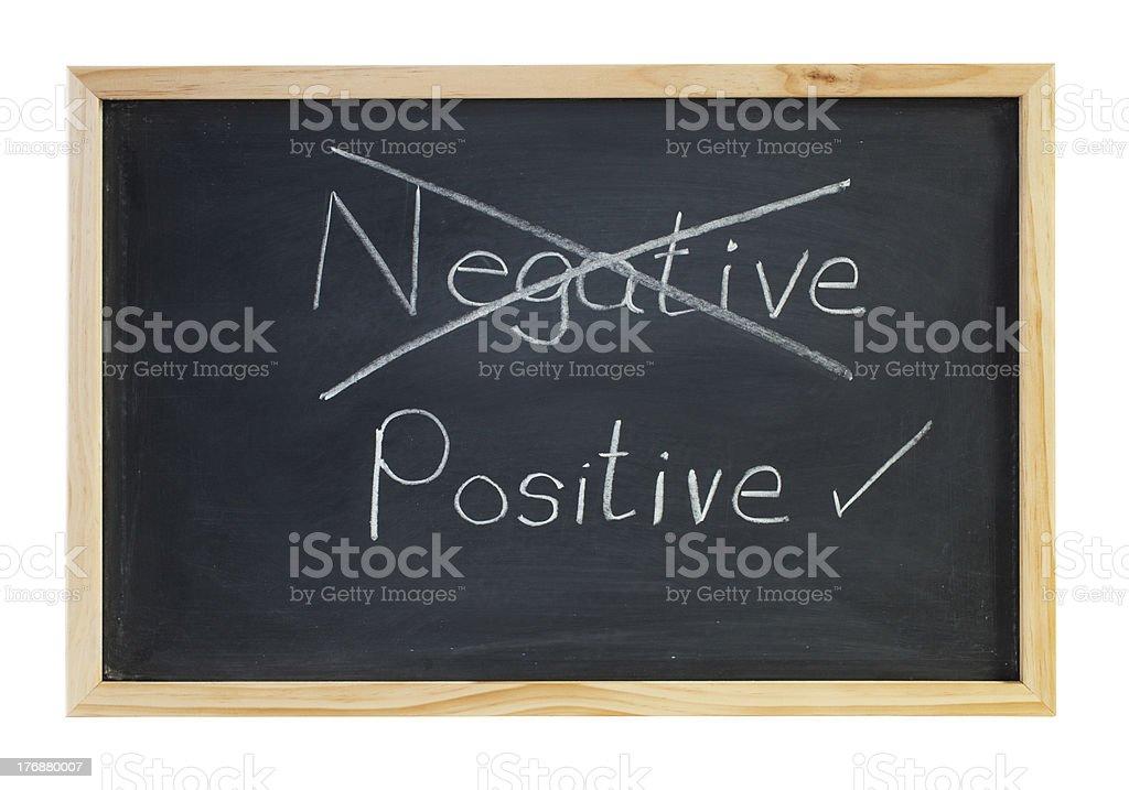 Positive Not Negative Blackboard royalty-free stock photo