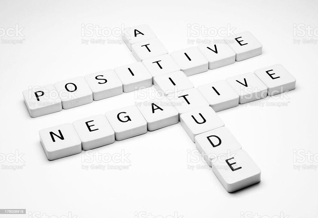 Positive or Negative Attitude royalty-free stock photo