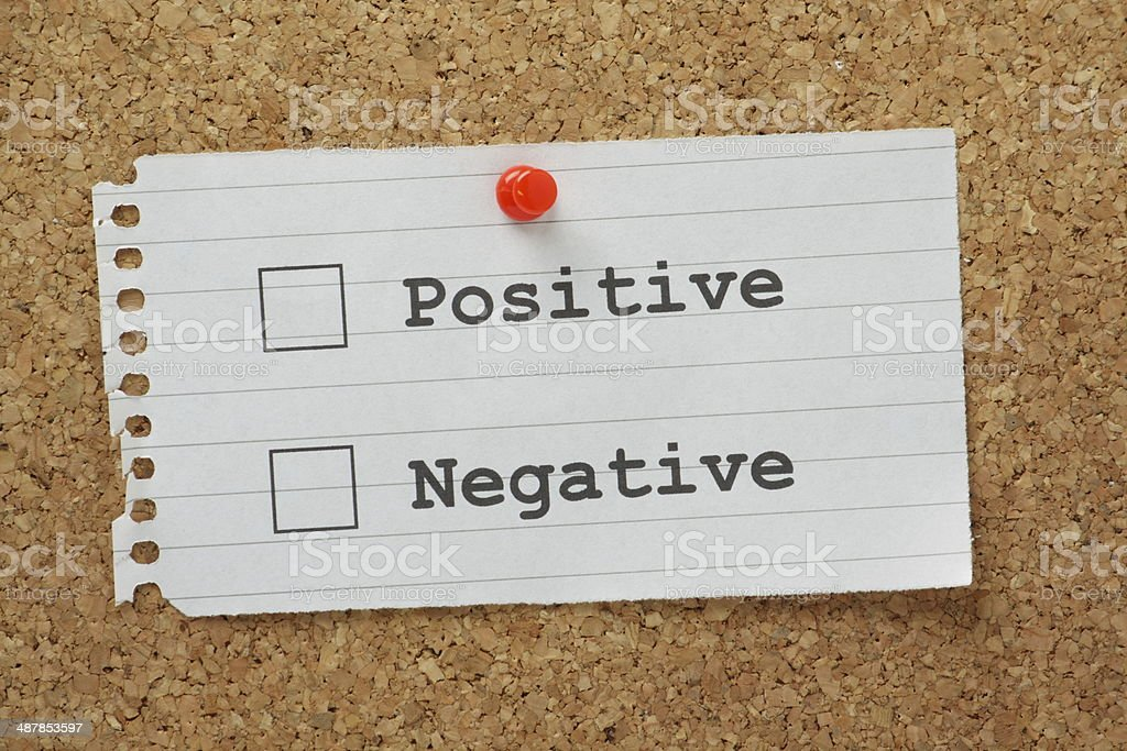 Positive or Negative? stock photo