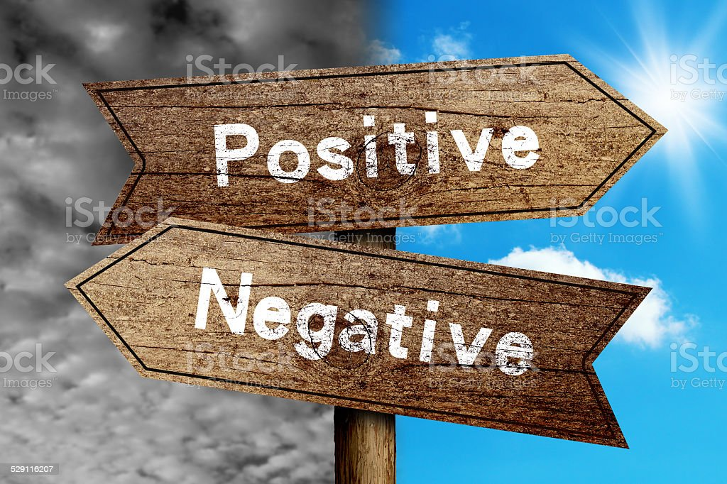 Positive Or Negative stock photo