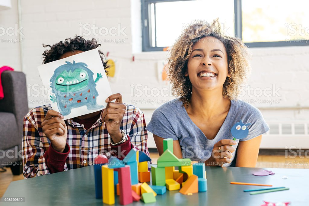 Positive parenting tips stock photo