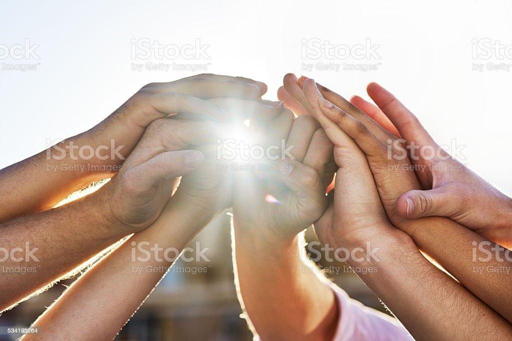Positive partnerships stock photo