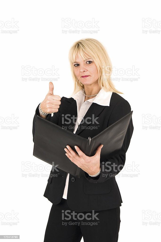 Positive report stock photo