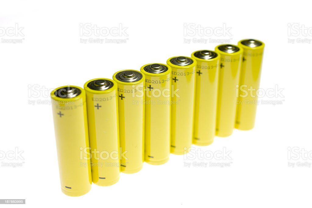 Positive Terminal On Battery royalty-free stock photo