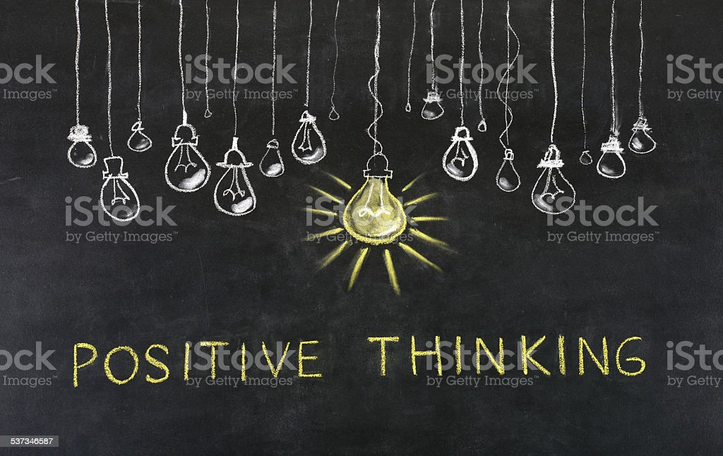'Positive Thinking' Concept stock photo