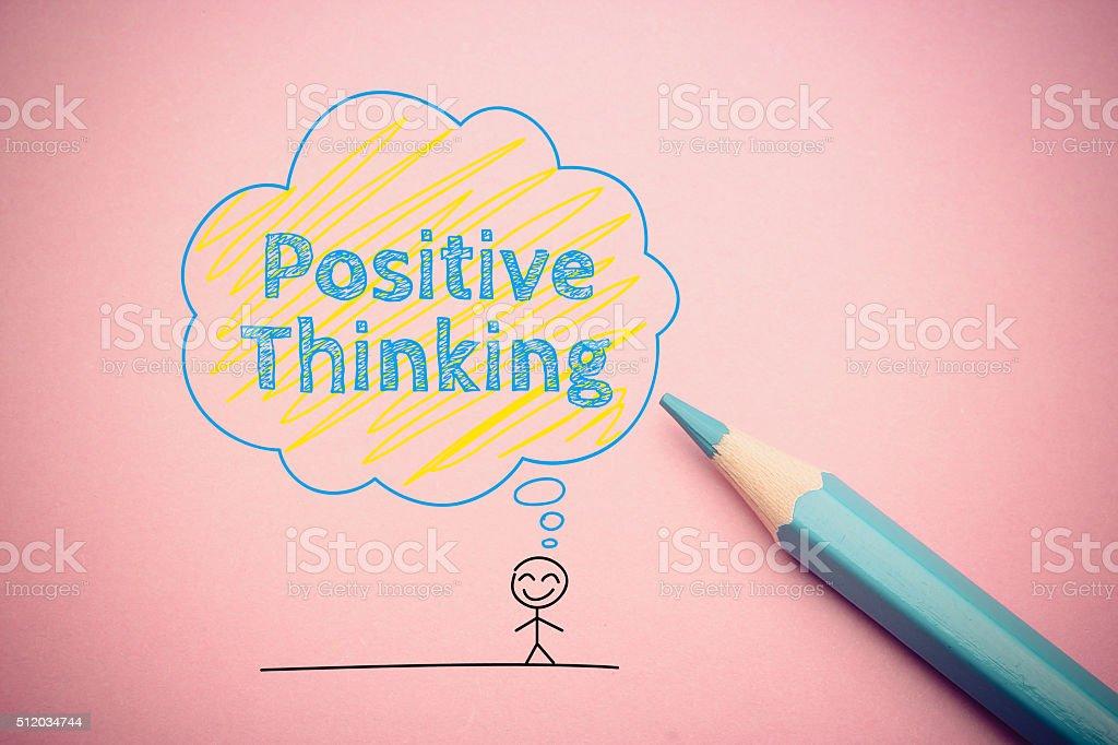 Positive thinking stock photo