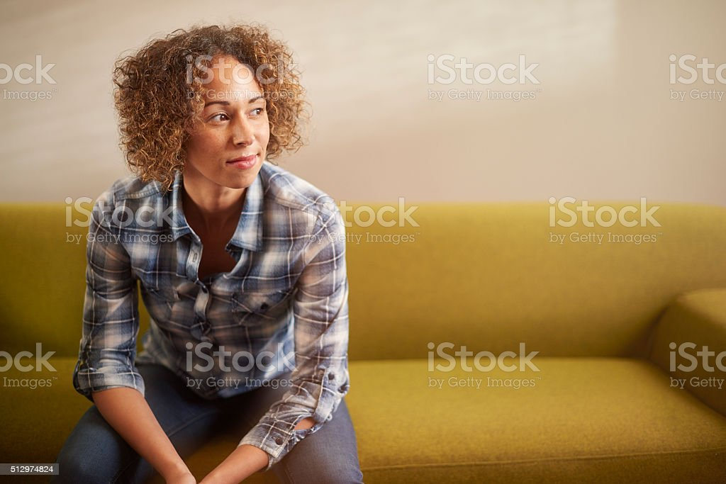 positive thinking woman stock photo
