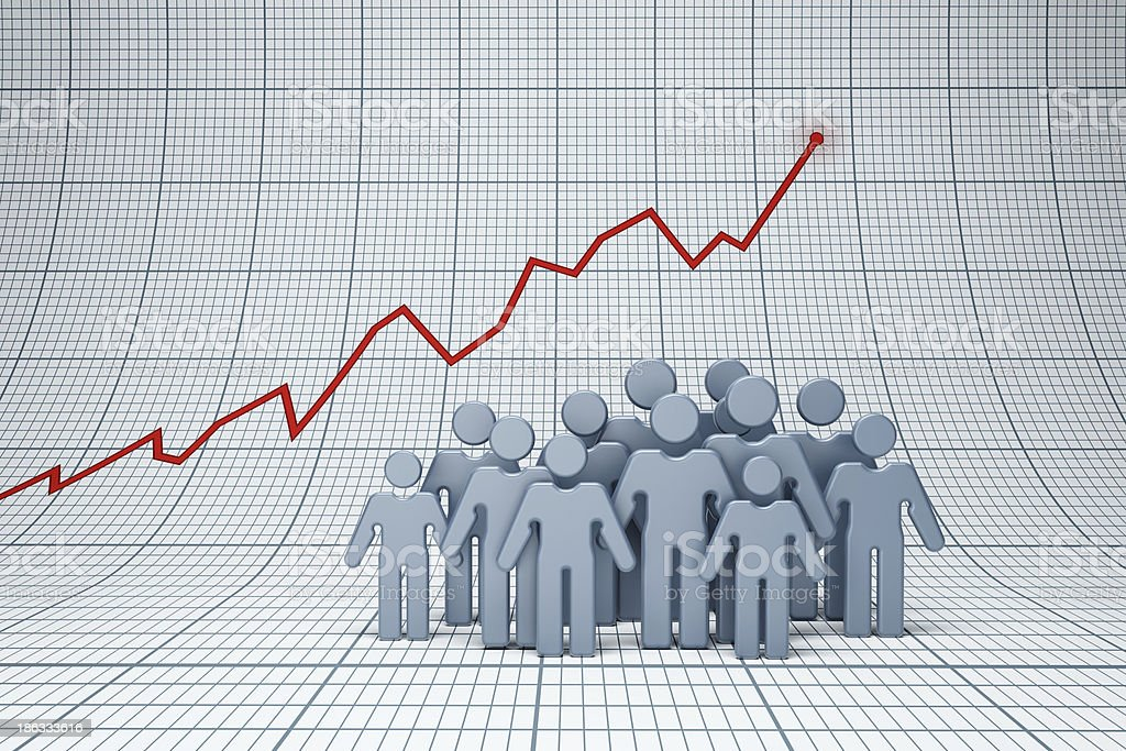 positive trend royalty-free stock photo