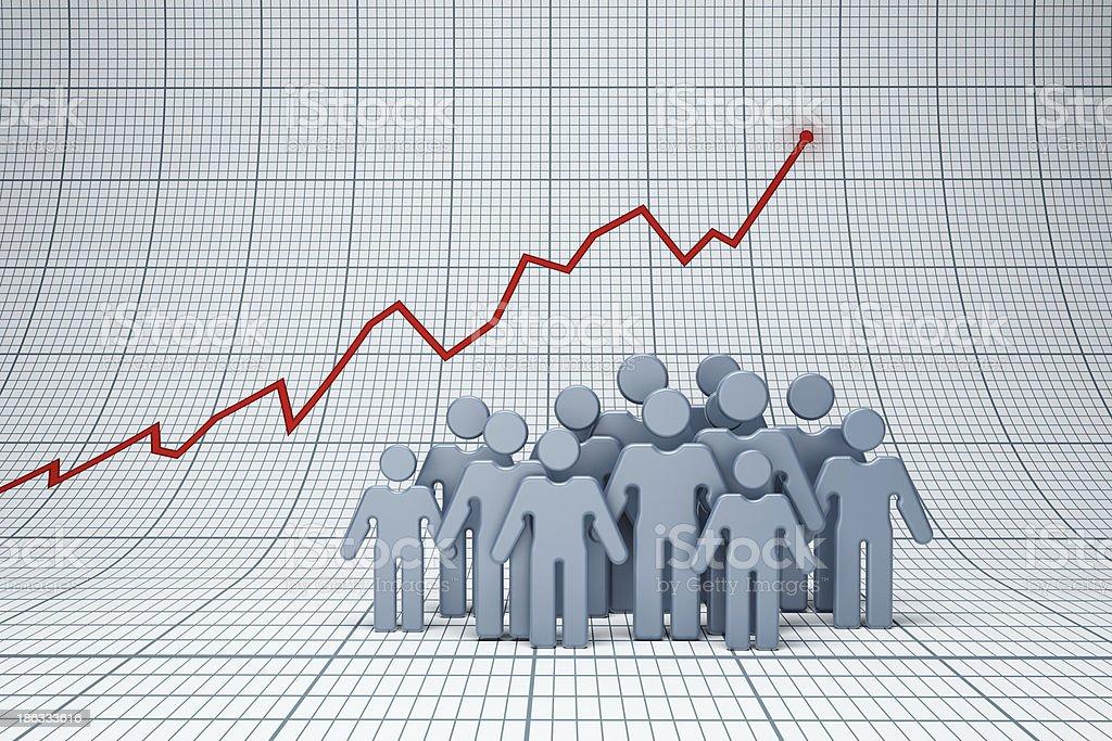 positive trend stock photo