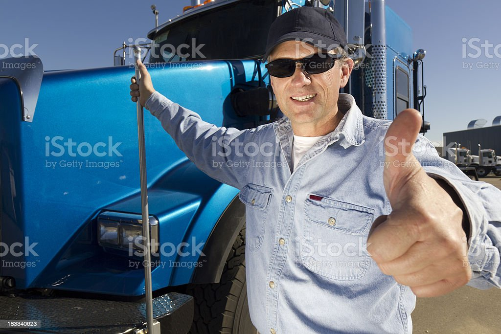 Positive Truck Driver royalty-free stock photo