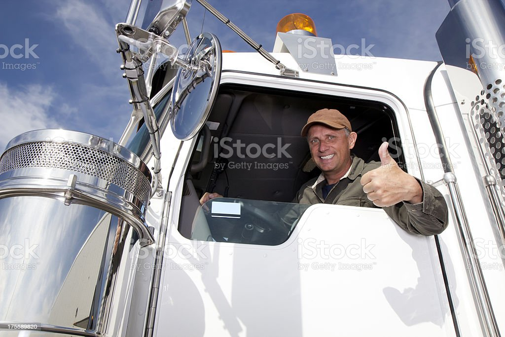 Positive Trucker stock photo