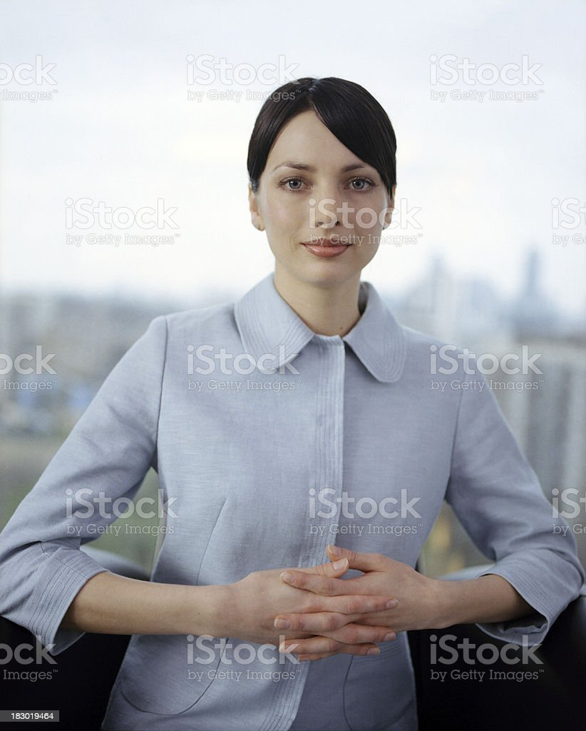 Positive Young Businesswoman royalty-free stock photo
