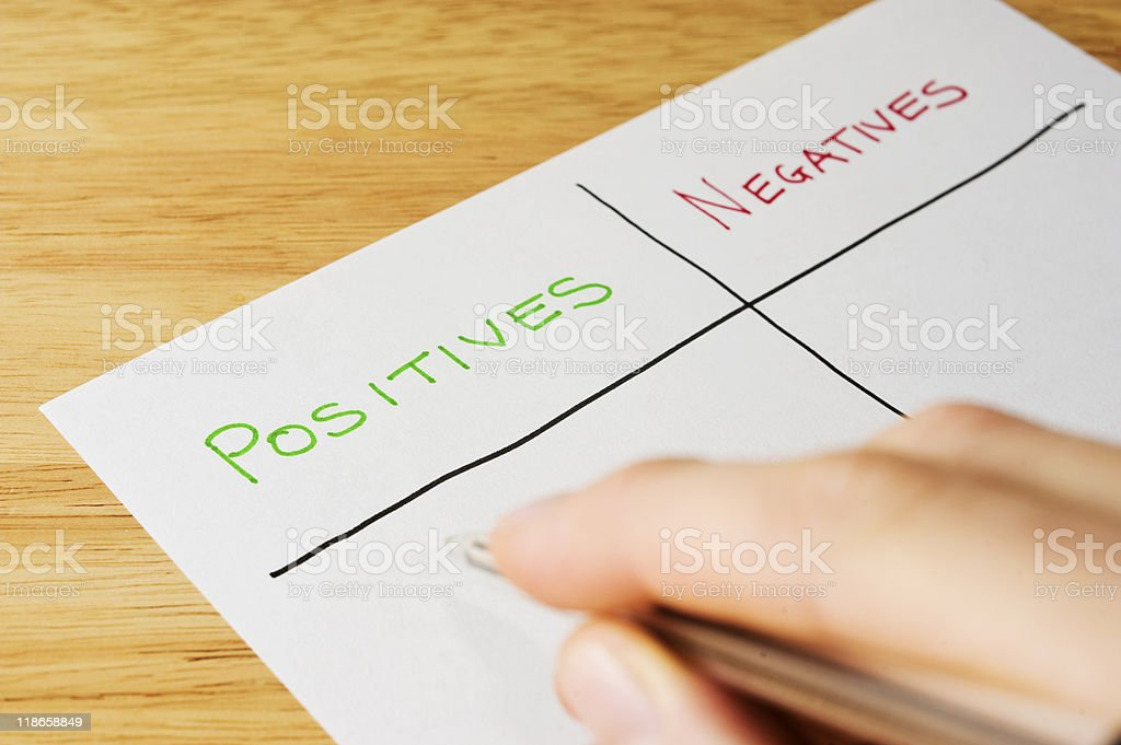 Positives and Negatives royalty-free stock photo